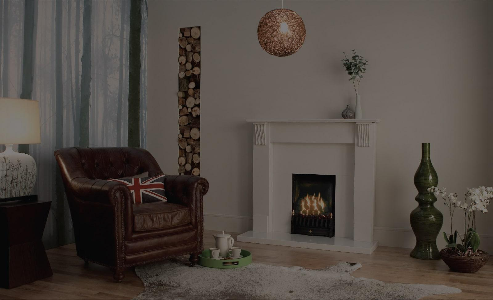 valor majestic inset fire in room set
